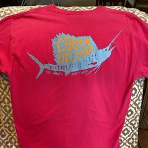 Costa Del Mar Pink/Light Blue T-Shirt Size Large